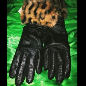 Genuine Leather Fur Thinsulate Gloves *New**